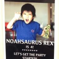 Noah's 4th: Noahsaurus Rex Turns 4!