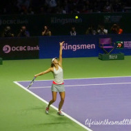 Tennis Action at the WTA Finals