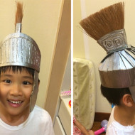 Cardboard Armour for a Little Roman Soldier