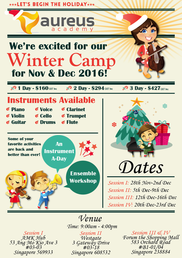 Aureus Academy 2016 Winter Camp Flyer